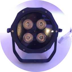 IP65 wasserdichtes 4x18w RGBAW UV 6in1 LED-Scheinwerferlicht