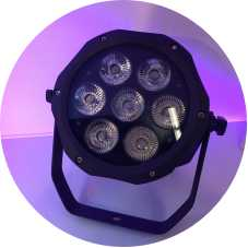 IP65 wasserdichtes 7x18w RGBAW UV 6in1 LED-Scheinwerferlicht