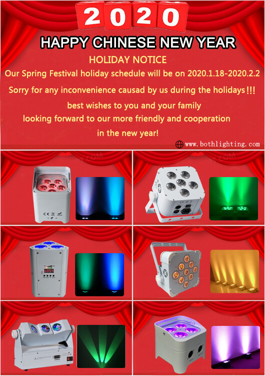 China New Year Holiday Notice - Beide Beleuchtung